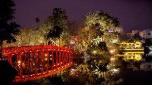 The-Huc-Brücke in Hanoi